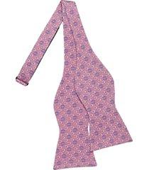 tommy hilfiger pink racehorse pattern self-tie bow tie