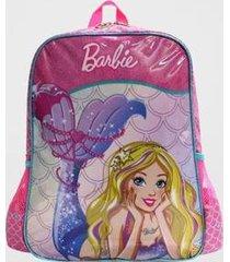 mochila barbie sereia infantil luxcel feminina