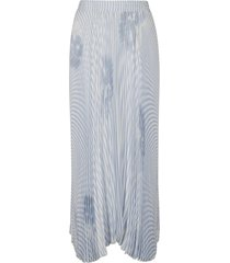 ermanno scervino asymmetric stripe pleated skirt