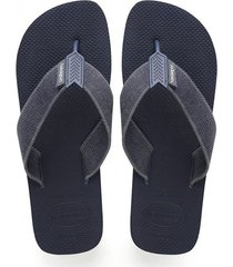 sandalias chanclas havaianas para hombre azul urban basic
