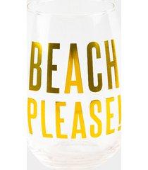 women's beach please stemless wine glass by francesca's - size: one size