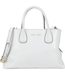 miu miu women's borse leather crossbody bag - white