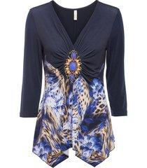 maglia con fiori (nero) - bodyflirt boutique