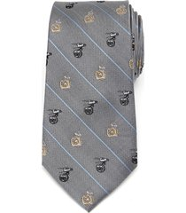 men's cufflinks, inc. bb-8 & dio silk tie