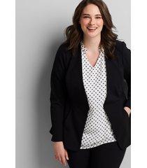 lane bryant women's on-the-go peplum jacket 26 black