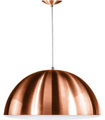 lustre pendente meia lua 30cm de alumãnio new cobre - cobre - dafiti