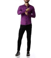 camisa violeta no end clásica laycra 33116