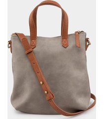 kelsey distressed mini tote - light gray