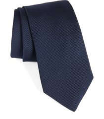 men's david donahue stripe silk tie, size regular - blue