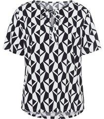 blouse met korte mouwen van uta raasch multicolour