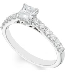 certified diamond (1 ct. t.w.) engagement ring in 14k white gold
