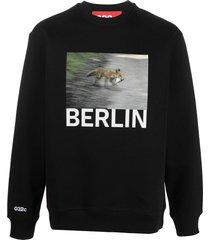 032c graphic-print sweatshirt - black