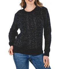 sweater acuario negro guinda
