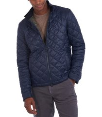 men's barbour biddel quilted nylon jacket, size medium - blue