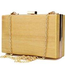 clutch artestore social bolsa de noite carteira de festa em madeira