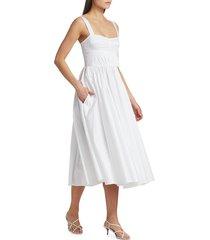 jason wu women's sleeveless poplin day dress - navy - size 4