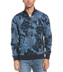 original penguin men's quarter-zip floral track jacket