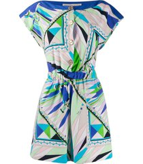 emilio pucci abstract print playsuit - green