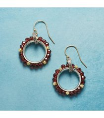 berry wreath earrings