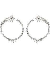 luna cubic zirconia hoop earrings
