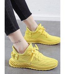 zapatillas deportivas transparentes voladoras de malla transpirable