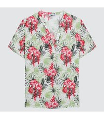 blusa mujer cuello neru floral