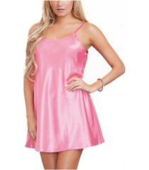 icollection women's lila satin chemise nightgown, online only