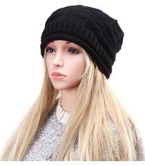 unisex beanie in maglia all'uncinetto a forma romboidale da sciare berretto largo