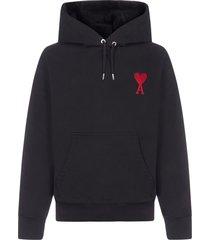 ami alexandre mattiussi ami de coeur-logo cotton hoodie