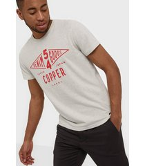 superdry copper label tee t-shirts & linnen creme