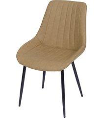 cadeira volga sem braço brazos lyard - caramelo