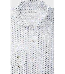 michaelis poplin shirt met vrolijk gekleurde bolletjes slv7