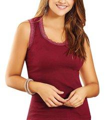 blusa hadid vinotinto  para mujer croydon
