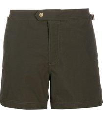 tom ford straight-leg swim shorts - green