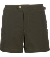 tom ford straight-leg swim shorts - green