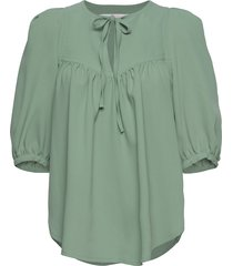 top blouses short-sleeved grön see by chloé