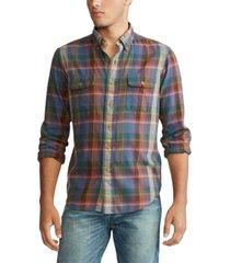 polo ralph lauren men's twill long sleeve sport shirt