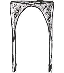 kiki de montparnasse lace garter belt - black