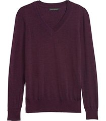sweater merino vee morado banana republic