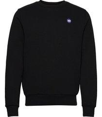 lars recycled cotton sweat sweat-shirt tröja svart kronstadt