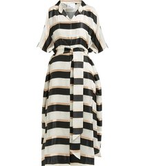 striped tie-waist kaftan