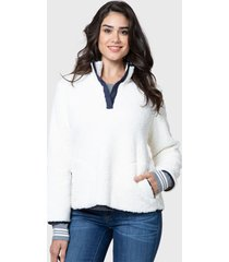 sweater nautica blanco - calce regular