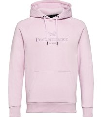 m original hood blue elevation hoodie trui roze peak performance