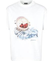 jacquemus cerises printed cotton t-shirt