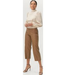 byxor holly pu culotte trousers