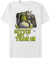 fifth sun shrek men's better out than in outhouse portrait short sleeve t-shirt