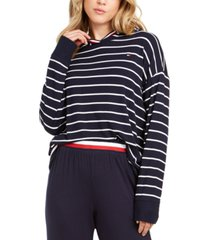 tommy hilfiger nautical crossover-back sleep hoodie