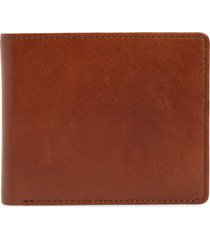 men's nordstrom liam slim leather wallet - brown