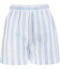 msgm stripe pattern shorts
