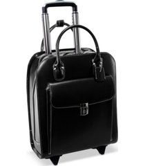 mcklein uptown leather wheeled laptop briefcase